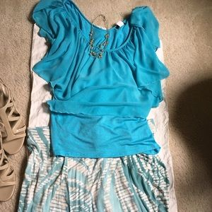 Venus Jersey and Polyester Angelic Cool Summer Top